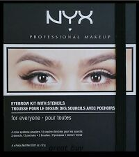 NYX EYEBROW KIT WITH STENCILS FOR EVERY ONE EBKS01.