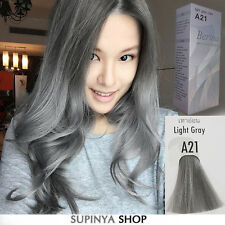 Berina Permanent Hair Color Cream Hair Style Dye Light Grey Silver A21