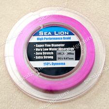 NEW Sea Lion 100% Dyneema Spectra Braid Fishing Line 300M 10lb Magenta