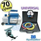 3S AIR CONDITIONING KIT Vacuum PUMP 2.5 CFM & MANIFOLD GAUGE SET & FLARING TOOL