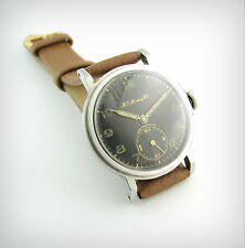 Vintage Watch.... Hy MOSER & CIE....SSteel....40's...Military Style...Stunning!!