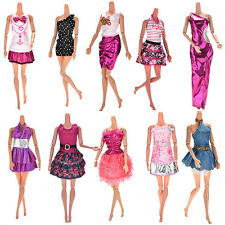 10Pcs Party Wedding Dresses Clothes Gown For Barbie Dolls Girls Random Style