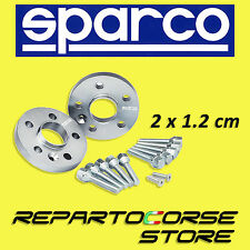 SPARCO WHEEL SPACERS KIT - 2 x 12mm - WITH BOLTS - FIAT PUNTO 188 - 4x98 - 58 CB