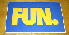 FUN BAND WE ARE YOUNG RARE FUELED BY RAMEN BRAND NEW BLUE PROMO STICKER RSD 2013
