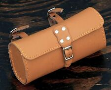 Tan Leather Bike TOOL BAG B Fixie Vintage Schwinn Cruiser Bicycle Saddle Seat