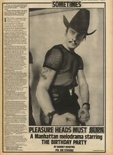 17/10/81PGN29/30 ARTICLE WITH PICTURES: THE BIRTHDAY PARTY AT THE UNDERGROUND