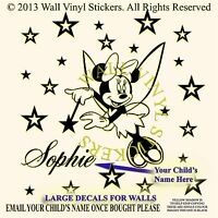 Minnie Mouse Sticker Wall Personalised Kids Children Name Vinyl Art Decal Star