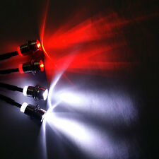 RC Truck LED Night 4x 5mm Metal Lampshade Headlights White and Red LED light