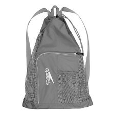 Speedo Swim Deluxe Ventilator Mesh Pool Gear Swimming Bag Frost Grey Silver