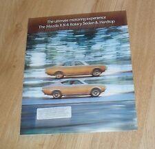 Mazda RX4 Rotary Hardtop Coupe & Sedan Brochure 1974
