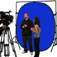 5' x 7' Reversible Popup Blue Green Screen Background Collapsible Panel New