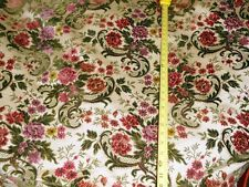 1 1/3 YARDS VINTAGE DORELINE FABRIC ~ MONTE VERDE ~ ROSE ~ UPHOLSTERY / DRAPERY