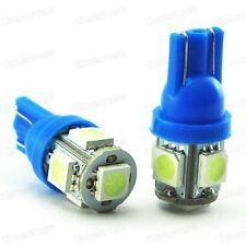 2Pcs T10 194 168 2825 5 SMD 5050 LED Super Bright Ice Blue Light Car Bulb Lamp