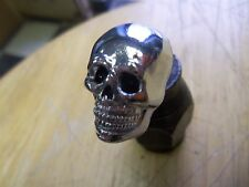 CHROME SKULL HEAD DECORATIVE MOUNTING BOLTS WITH black EYES 8mm bolt