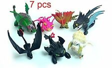 How to Train Your Dragon 7 pcs Figures Set: Toothless Night Fury Nadder & More