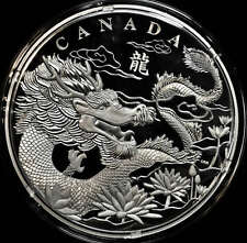 2012 Canada $250 One Kilogram Fine Silver Coin - Dragon