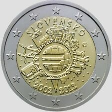 Slovakia 2012, 2 Euro - Ten years of euro banknotes and coins