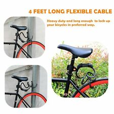 4ft Cycling Heavy Duty 12mm Cable 5 Digit Combination Password Bike Bicycle Lock