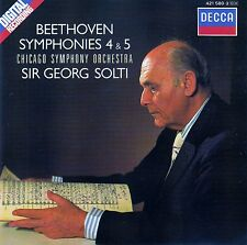 BEETHOVEN : SYMPHONIES 4 & 5 - CHICAGO SYMPHONY ORCHESTRA - SOLTI / CD