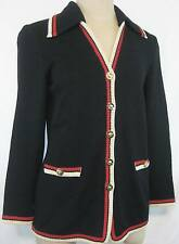 St John Collection Jacket Size 2  Black Red White Made in USA