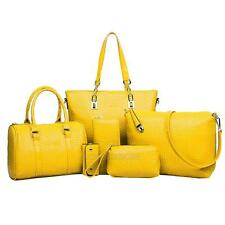 6 PCS/Set Women's Handbag Noble Shoulder Bags Totes Messenger Bag Purse Leather