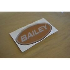 BAILEY (RESIN DOMED) Toffee/Gold Caravan Badge Sticker Decal Graphic - SINGLE