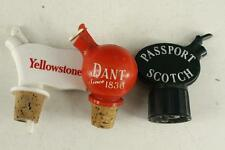 Vintage Advertising LOT Barware Liquor Bottle Stoppers Dant Passport Scotch