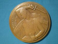 Maria Callas Singer Opera Medea,Theater Greek, Large Sculpture Relief Medal COA.