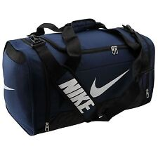 Nike Brasilia 6 Medium Grip Duffle Bag Navy Gym Holdall Sports Bag Genuine