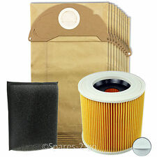 KARCHER Vacuum Cleaner Filter & Bags Kit Wet & Dry Hoover Filters A2004 A2024