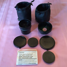 SONY Super Lens Bundle: SONY VCL DH1758 Tele Lens and VCL DH0758 Wide Angle Lens