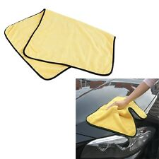Yellow Absorbent Microfiber Wash Cloth Car Auto Cleaning Towels 92cm x 56cm UL