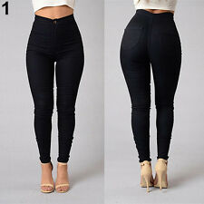 Women Pencil Stretch Casual Denim Skinny Jeans Pants High Waist Trousers Gift