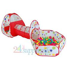3 In 1 Indoor/Outdoor Kids Pop Up Play House Tents Tunnel and Ball Pit Playhouse
