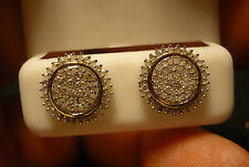 Diamond Stud Earrings 138 diamonds 1.0tcw 14k YG accent MSRP$1876