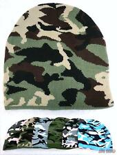 Bulk lot of 48 Assorted Camo Camouflage Winter Knit Beanie Hats