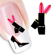 FD1718 Elegant 3D Nail Stickers Art DIY Stickers Decals Sheet ~Lipstick Heel~ ✿