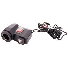 Motorcycle Mobile Power USB Charger Waterproof Port Socket Cigarette Lighter 12V
