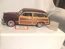1949 Ford Woody Wagon Franklin Mint  Brown Wood Panels,NEW,MINT,CLASSIC,VINTAGE