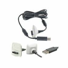 Usb 2.0 Cargador Plomo Para Xbox 360 Joypad Gamepad Wireless Alambre Blanco