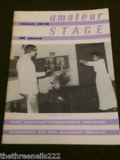AMATEUR STAGE - THE GENTLE HOOK - MARCH 1978