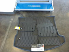 Mazda 3 2014-2015 5 Door Cargo Net, All Weather Floor Mats & Cargo Tray Combo