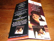 ANDREA BOCELLI ARIA!!!!!!!!!!!!!!!RARE FRENCH PRESS/KIT