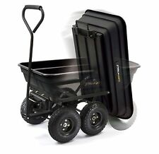 Gorilla Carts Poly Garden Dump Cart Hand Tractor Pull Wagon Carry Load 600 lb
