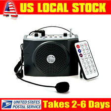 Portable Headset Mic Voice Booster Amplifier Loudspeaker 25W FM +Remote Control