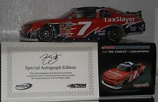 2013 REGAN SMITH #7 TAXSLAYER WE SUPPORT OUR TROOPS AUTOGRAPHEDD 1/24 CAR W/COA