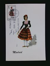 SPANIEN MK 1969 TRACHTEN MADRID COSTUMES MAXIMUMKARTE MAXIMUM CARD MC CM c5503