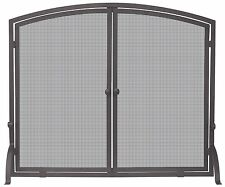 Uniflame SINGLE PANEL BRONZE FINISH SCREEN WITH DOORS S-1632 Fireplace Screens