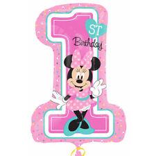 """Disney Minnie Mouse 1st Birthday Party Supply SuperShape Jumbo Balloon 28"""""""