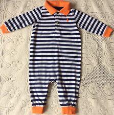 New Baby Boys Ralph Lauren Long Sleeves Body Suit/Romper 6M